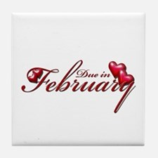 Due In February Tile Coaster