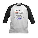 Loose vs Lose Kids Baseball Jersey