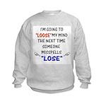 Loose vs Lose Kids Sweatshirt