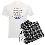 Loose vs Lose Men's Light Pajamas