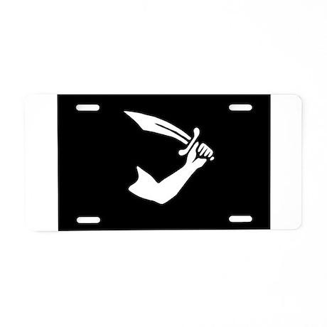 Thomas Tew's Pirate Flag Aluminum License Plate