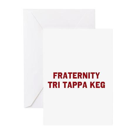 FRATERNITY TRI TAPPA KEG Greeting Cards (Pk of 20)