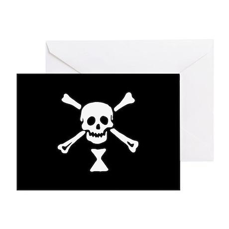 Emanuel Wynn's Pirate Flag Greeting Card