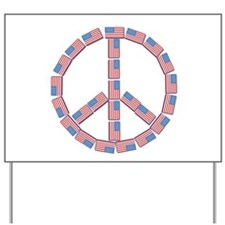 USA Peace Yard Sign