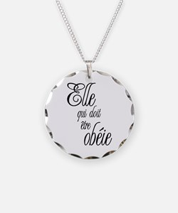 She who must be obeyed (Frenc Necklace