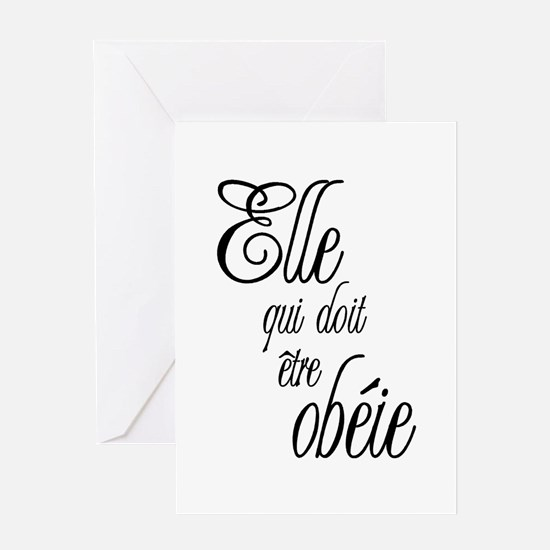 She who must be obeyed (Frenc Greeting Card