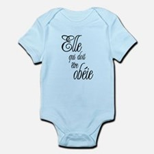 She who must be obeyed (Frenc Infant Bodysuit
