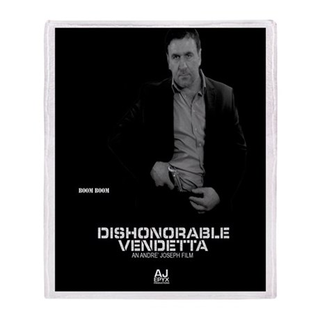 Dishonorable Vendetta Boom Boom Throw Blanket