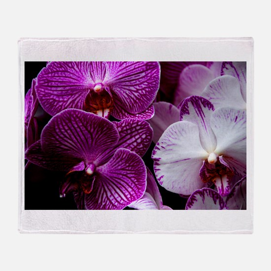 """""""Orchids"""" Throw Blanket"""