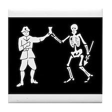 Black Bart's Pirate Flag Tile Coaster