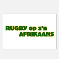 South African Rugby Afrikaans Postcards (Package o