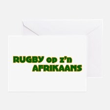 South African Rugby Afrikaans Greeting Cards (Pack