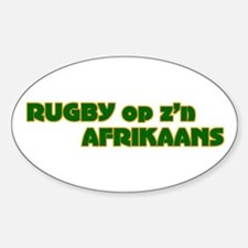 South African Rugby Afrikaans Oval Decal