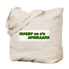 South African Rugby Afrikaans Tote Bag