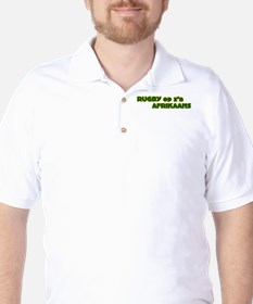 South African Rugby Afrikaans Golf Shirt