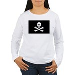 Edward England's Pirate Flag Women's Long Sleeve T