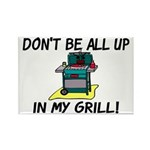 All Up In My Grill Rectangle Magnet (10 pack)