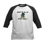 All Up In My Grill Kids Baseball Jersey