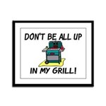 All Up In My Grill Framed Panel Print