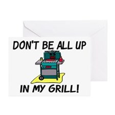 All Up In My Grill Greeting Cards (Pk of 10)