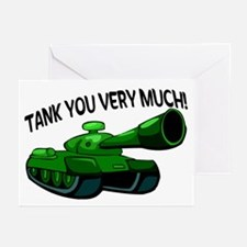 Tank You Very Much Greeting Cards (Pk of 20)