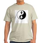 Yin Yang Penguins Ash Grey T-Shirt