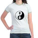 Yin Yang Penguins Jr. Ringer T-Shirt