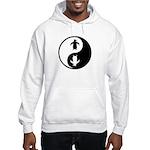 Yin Yang Penguins Hooded Sweatshirt
