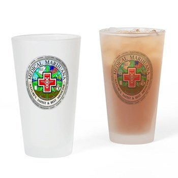 Medical Marijuana Drinking Glass