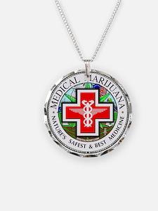 Medical Marijuana Necklace Circle Charm