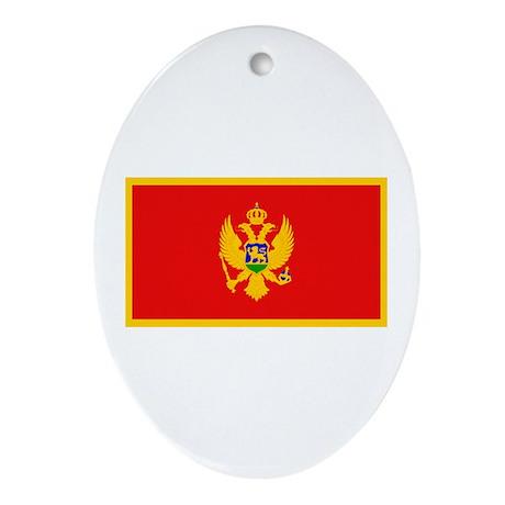 Montenegro Montenegrin Blank Oval Ornament