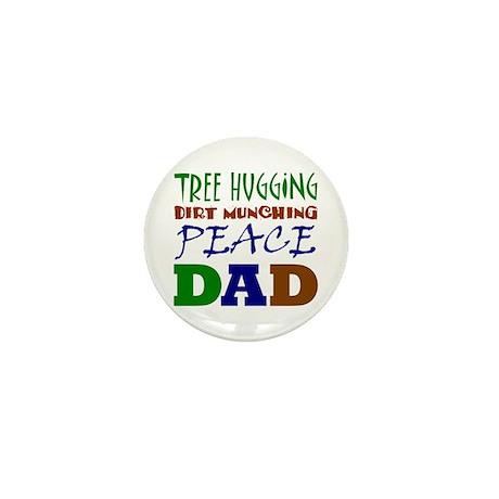 Tree Hugging Peace Dad Mini Button