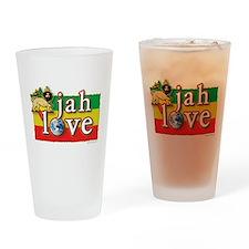 Jah Love Drinking Glass