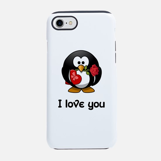 I Love You Penguin iPhone 7 Tough Case
