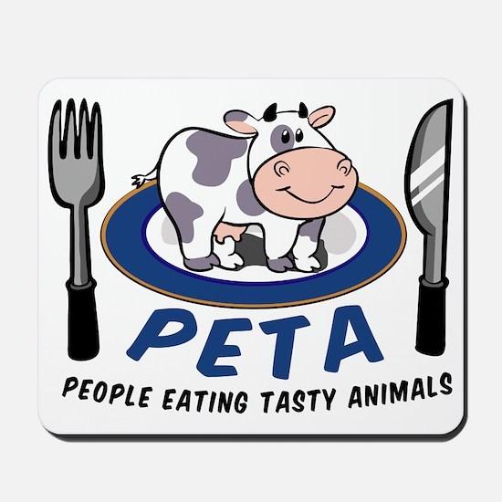 People Eating Tasty Animals Mousepad