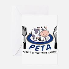 People Eating Tasty Animals Greeting Card