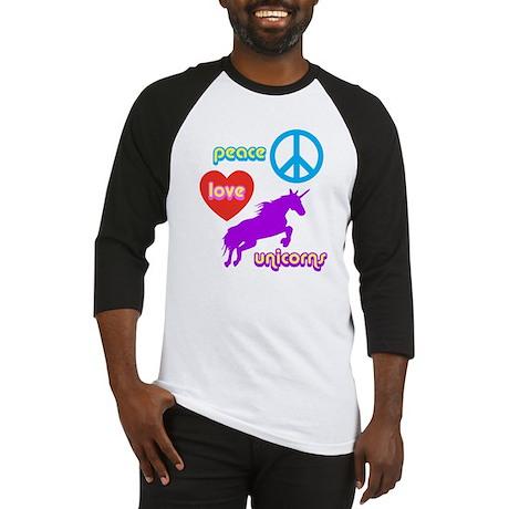Peace Love Unicorns Baseball Jersey