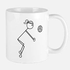 Volleyball girl clear Mugs