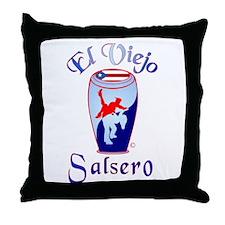 El Viejo Salsero Throw Pillow