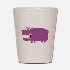 Loony Hippo Shot Glass