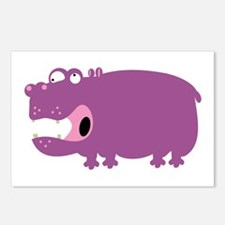 Loony Hippo Postcards (Package of 8)