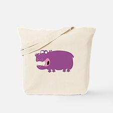 Loony Hippo Tote Bag
