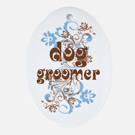 Dog Groomer Gift Ornament (Oval)