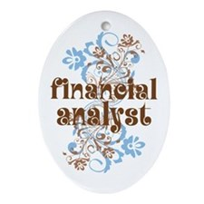 Financial Analyst Ornament (Oval)