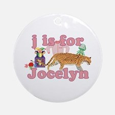 J is for Jocelyn Ornament (Round)