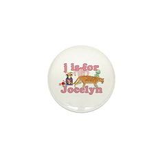 J is for Jocelyn Mini Button (100 pack)