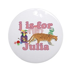 J is for Julia Ornament (Round)