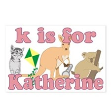 K is for Katherine Postcards (Package of 8)