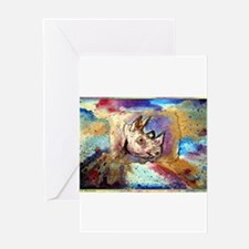 Rhino, wildlife, art, Greeting Card