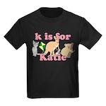 K is for Katie Kids Dark T-Shirt